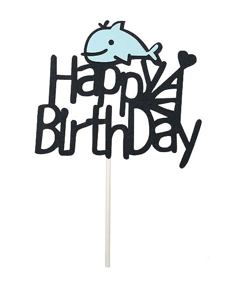 Decoración para tarta de cumpleaños, diseño de ballena ...