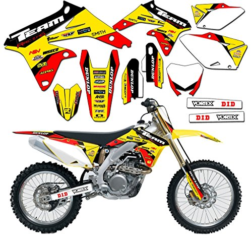 (Team Racing Graphics kit compatible with Suzuki1996-1998 RM 125/250, EVOLV)
