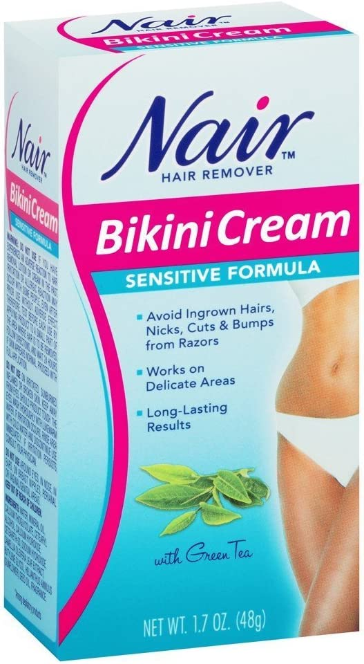 Amazon Com Nair Nair Sensitive Bikini Cream Hair Remover 1 7 Oz