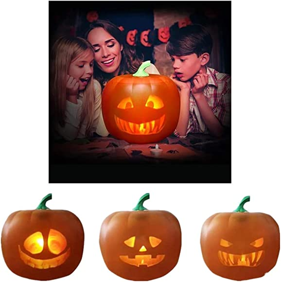 Halloween Flash, Halloween Talking Animated Pumpkin with Built-in Projector Speaker, 3-in-1 LED Pumpkin Projection Lamp for Home Party 3in1