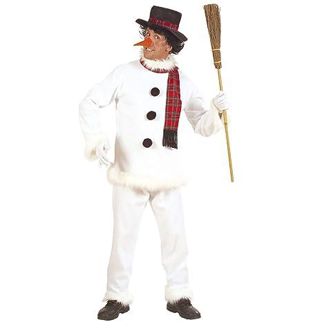 WIDMANN 5717 C Adultos Disfraz Muñeco de Nieve, Abrigo, Pantalones ...