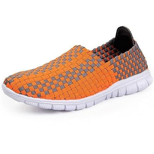GWELL - Mocasines de Caucho para mujer, color Naranja, talla 41,5 EU Hombre: Amazon.es: Zapatos y complementos