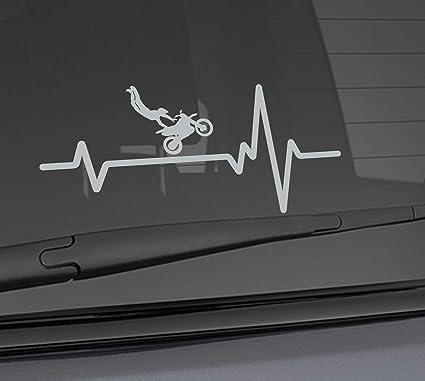 buy 2 get 1 free of the same item! Bicycle heartbeat die-cut car window sticker