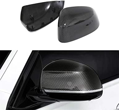 Topker Replacement For BMW 3 Series E90 2009-2011 Rearview Mirror Cover Door Side Wing Mirror Carbon Fiber Caps Shell