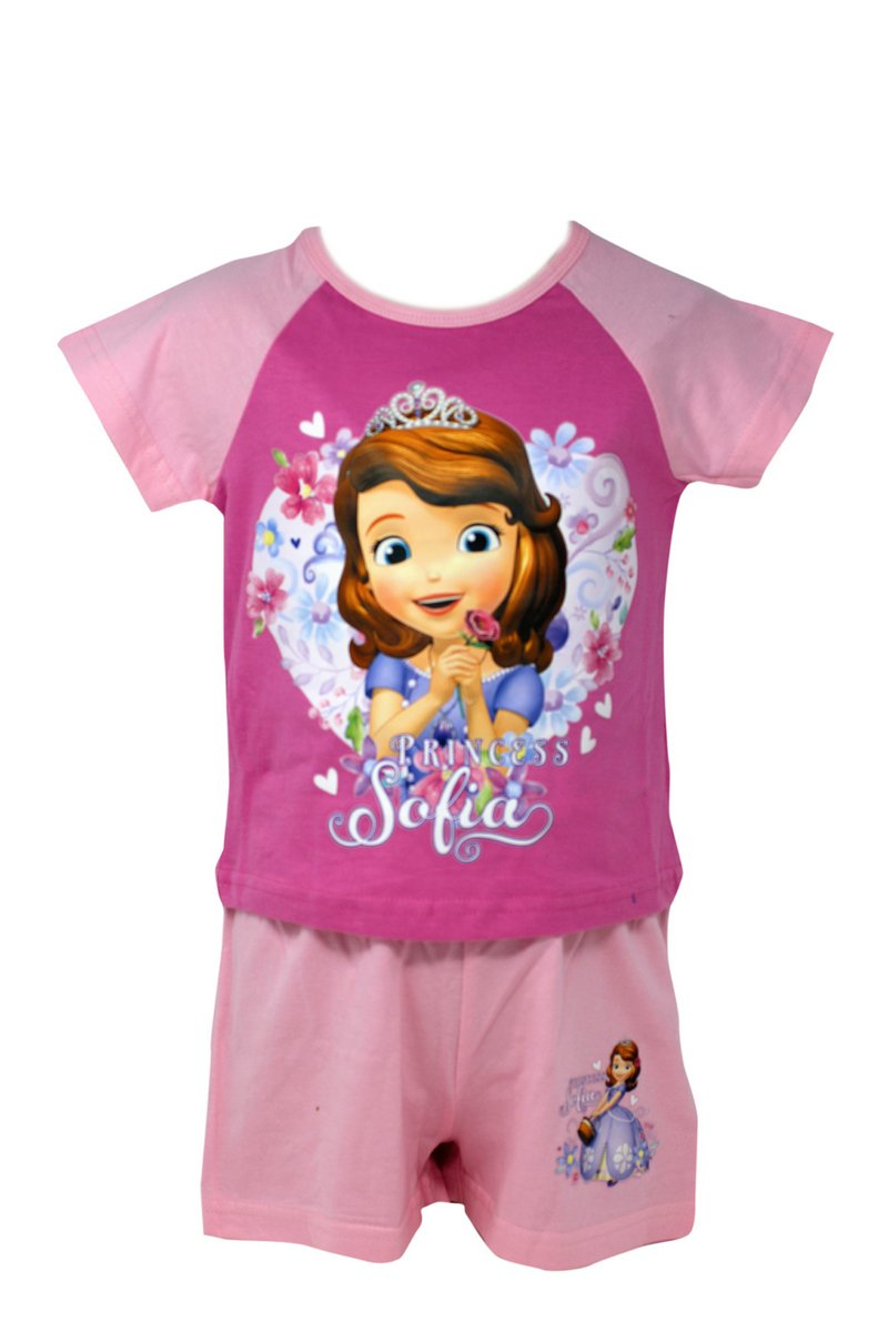 Officially Certified Sofia the First Girl's Kid's Shirt & Shorts Set Pyjama Set (3 - 4 years) Character Disney