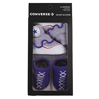 be8675e160429 Amazon.com: Converse Baby Girls Frilly Sock Booties-2 Pack: Clothing