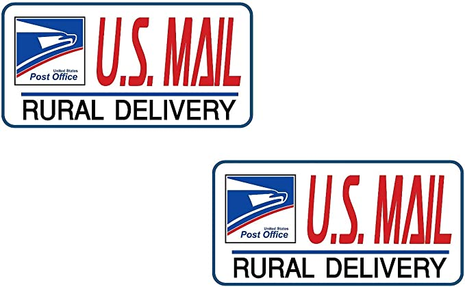 Artisan Owl U.S Large 9X12 Set of Two Magnets Mail Delivery Magnetic Sign for Rural Delivery Carrier Magnet USPS