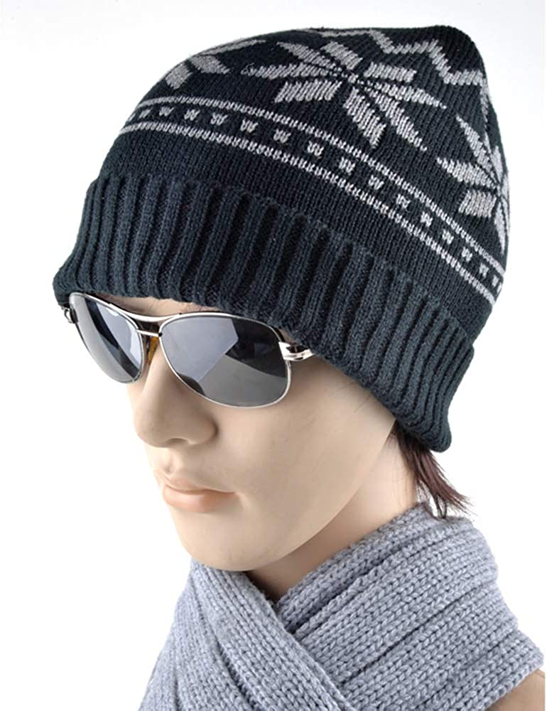 MJ-Young New Unisex Winter Beanies for Men Hat Knitted Warm Soft Beanie Skull Cap Snowboard Mask Caps