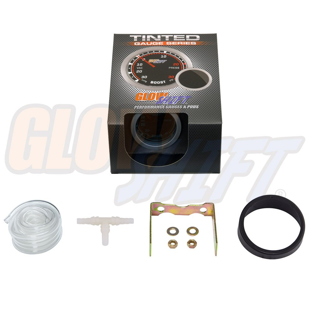 61m41999xOL._SL1000_ amazon com glowshift tinted 30 psi boost vacuum gauge automotive  at couponss.co