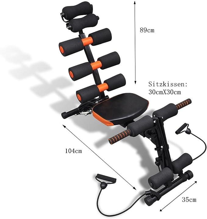 AB Wonder Six Pack Care Banco de musculación, entrenamiento de abdominales, piernas y brazos: Amazon.es: Deportes y aire libre