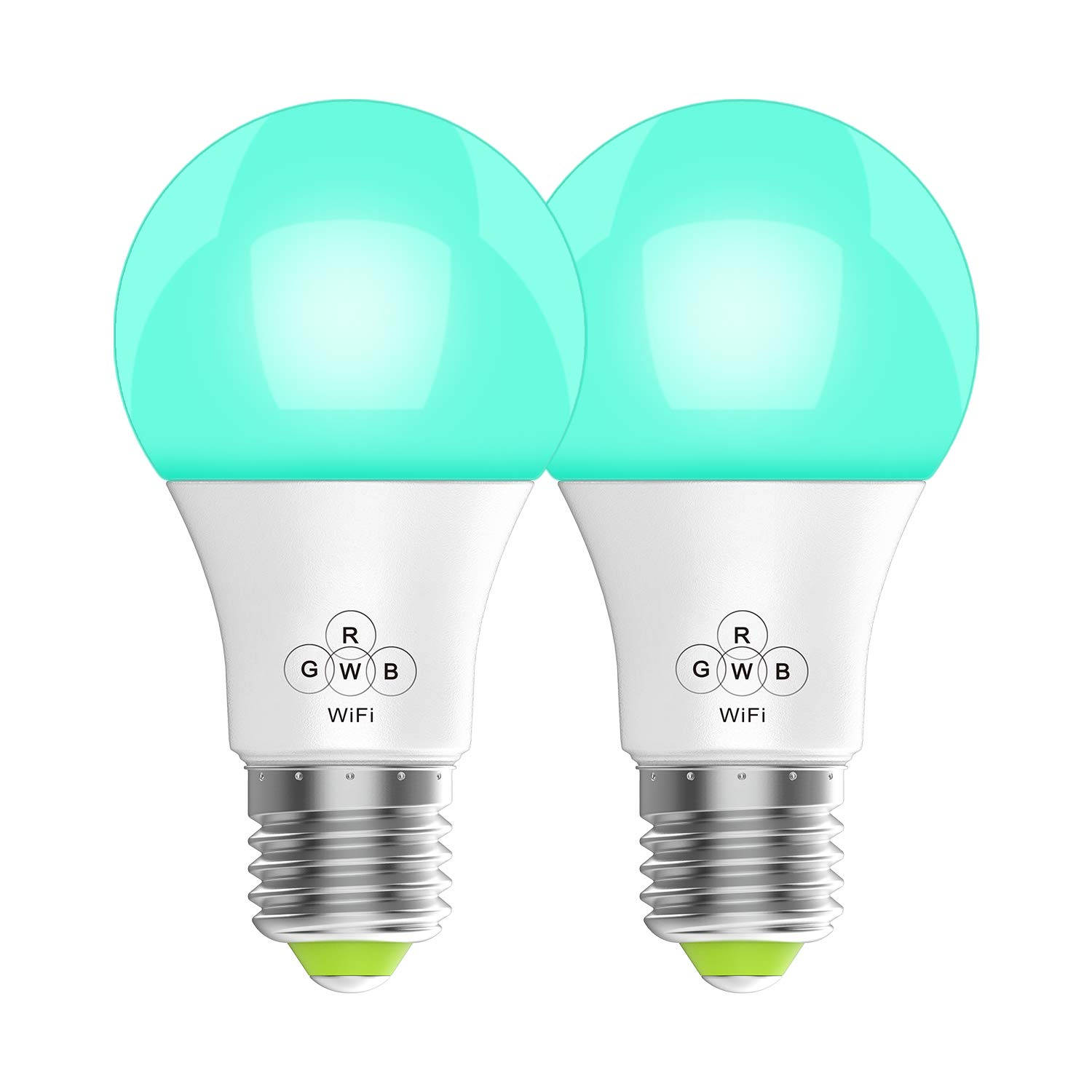 Svipear LED WiFi Smart Lights Bulb, Compatible with Alexa and Google Assistant and IFTTT,e27 a19 RGBW Edison Bulb, No Hub Required, Music Mode,Sunrise, Sunset Mode (2 Pack)