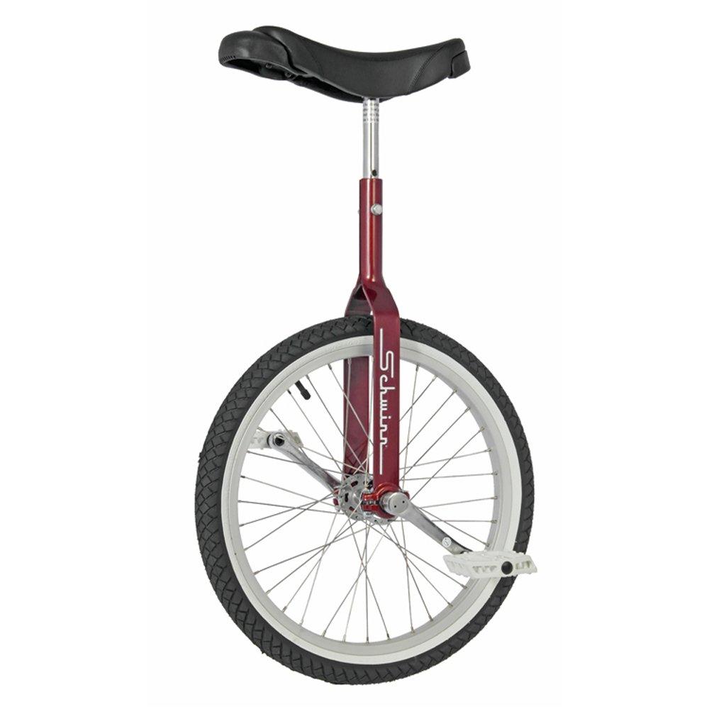 Schwinn 20'' Retro Unicycle - Nimbus Pedals -Kenda Kickzumbutt Whitewall Tire- (Red) by Schwinn
