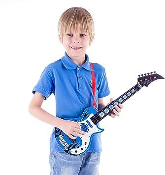 MRKE Guitarra Electrica Niños 53cm 4 Cuerdas Rock Juguete de ...
