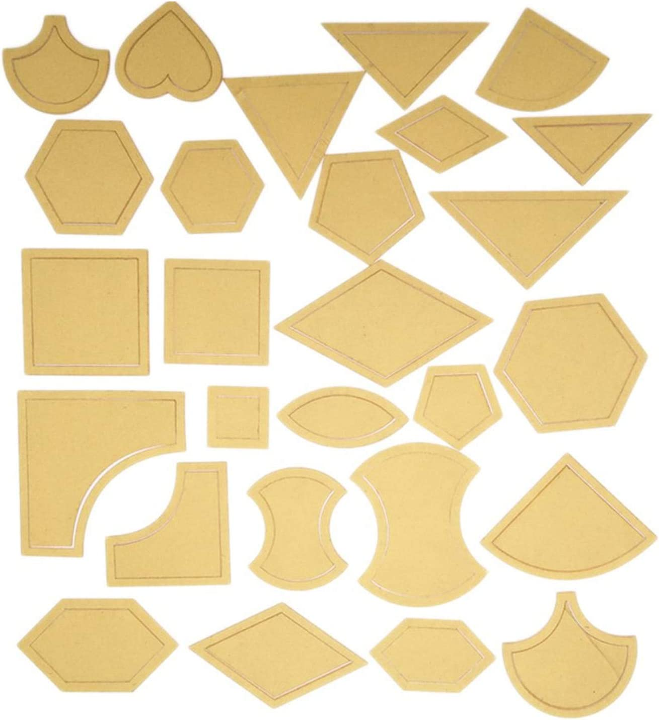 stencil Octagonal quilting   5 template set crafting quilting rulers and templates 4mm acrylic quilt making paper piecing