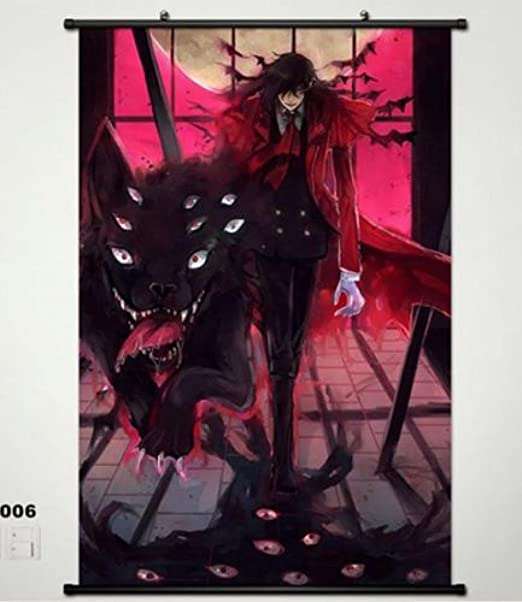 Alucard Hellsing  Anime Wall Poster Scroll Cosplay