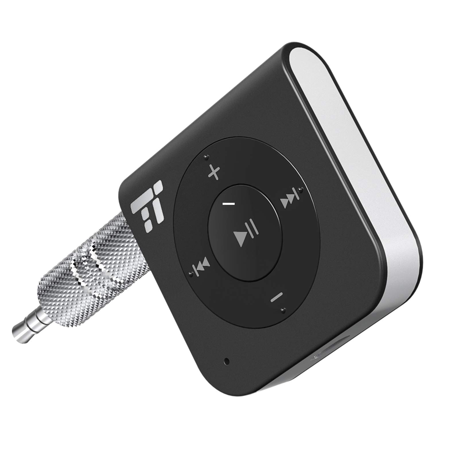 Bluetooth Adapter Empfänger ,TaoTronics Bluetooth Receiver 4.2 Audio Adapter 15 Stunden für KFZ Auto Lautsprecher, 3.5 mm AUX, Verbessertes eingebautes Mikrofon, A2DP, CVC Rauschunterdrückung product image