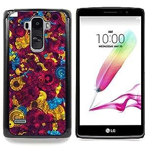 """Qstar Arte & diseño plástico duro Fundas Cover Cubre Hard Case Cover para LG G4 Stylus H540 (Fondo de pantalla colorida Pintura Diseño Arte"""")"""