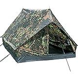 G8DS® Leichtgewichtiges widerstandsfähiges 2-Mann-Zelt mit hoher Wassersäule ′mini pack Super′ flecktarn