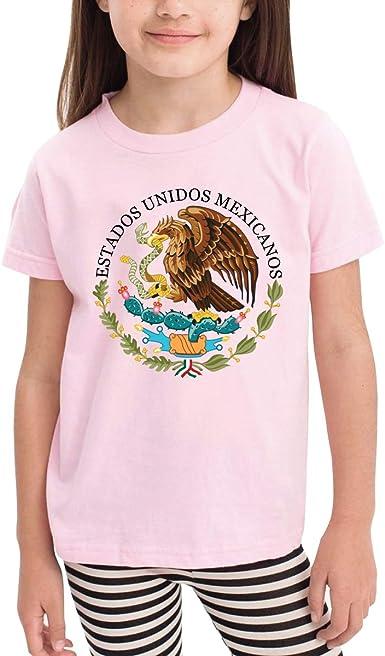 Queen Elena Escudo de los brazos de México-1, impresión de dibujos animados, camiseta para niños y bebés de verano, camisetas para niños y niñas, ropa de algodón para niños pequeños Rosa rosa