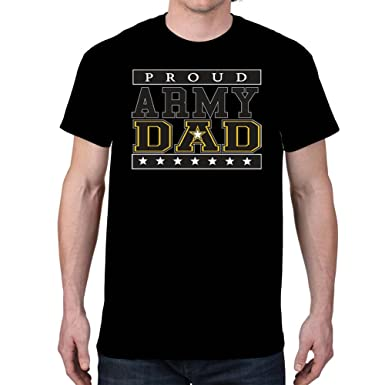 e65a8cdc194 Amazon.com  Empire Tees Men s Proud Army Dad Black T-Shirt  Clothing