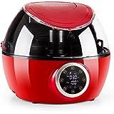 Klarstein VitAir Twist Friggitrice ad aria calda multifunzione senza olio (4-in-1, per cuocere, grigliare, friggere, arrostire o cuocere a vapore, asta mescolatrice, 4l, 1230 W) - rosso