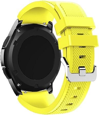 Correas para relojes Samsung Gear S3 Frontier Banda de pulsera de silicona deportiva saisiyiky (Amarillo): Amazon.es: Ropa y accesorios