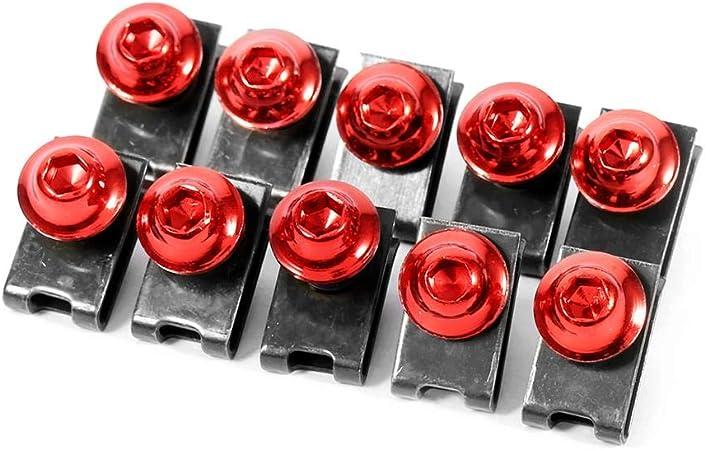 Motorrad Verkleidungskörper Schraube 10x M5 Schraube Für Verkleidungskörper Des Motorrads Schraubensatz Rot Auto