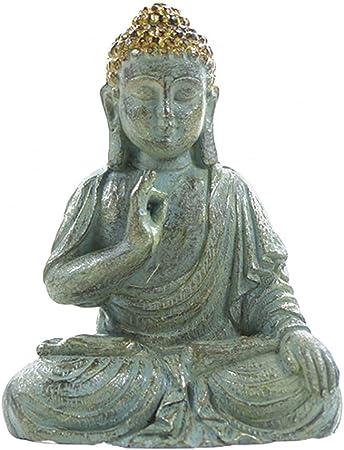 HPLDEHA Carácter Escultura Mini Bronce Estatua de Buda Decoración Espacio Suerte for el pórtico Patio del jardín Recoger (Color : Bronze): Amazon.es: Hogar