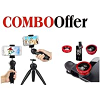 Mobias Retails, Universal Camera Lens Clip Type 3 in1 Kit, 180 Degree Fisheye Lens + 0.67X Wide Angle + 10X Macro Lens