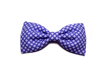dd3ef2c20cad Amazon.com : Mini Purple and White Polka Dot Hair Bow (Thin Yellow  Headband) : Beauty