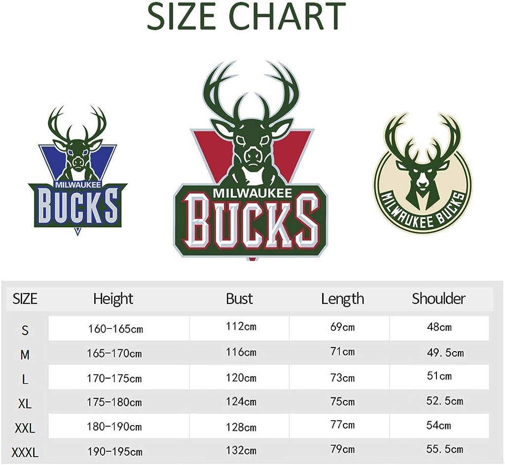 YHsports Milwaukee Bucks Herren Hoodie Antetokounmpo # 34 Name & Nummer Jugend Männer Mode Basketball Sport Sweatshirt Tops Dark Gray1