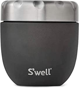 S'well Stainless Steel Food Bowls - 16 Fl Oz - Onyx - Triple-Layered Vacuum-Insulated Containers Keeps Food and Drinks Cold for 12 Hours and Hot for 7 - with No Condensation - BPA Free