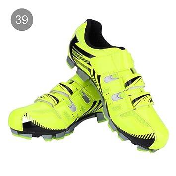 Dioche Zapatillas de Ciclismo para Hombres, 1 Par de Bicicleta de Montaña Transpirable Antideslizante SPD System Riding Biking Shoes Adult: Amazon.es: ...