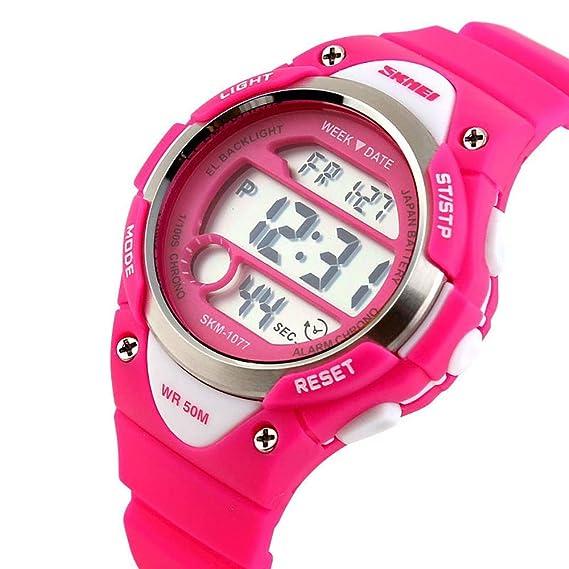 Reloj para Niños Niño Niña Resistente al agua Digital Militares Impermeabl Deportivos Especiales al Aire Libre LED Despertador Multifuncionales: Amazon.es: ...