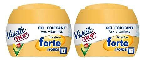 Vivelle Dop – Gel para el cabello con vitaminas, fijación fuerte Force 6, para