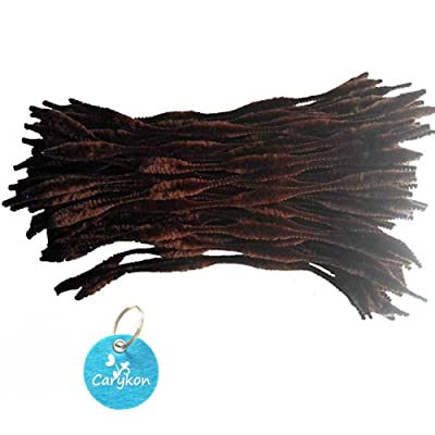 Caryko Fuzzy Bump Chenille Stems Pipe Cleaners, Pack of 100 (Coffee): Toys & Games