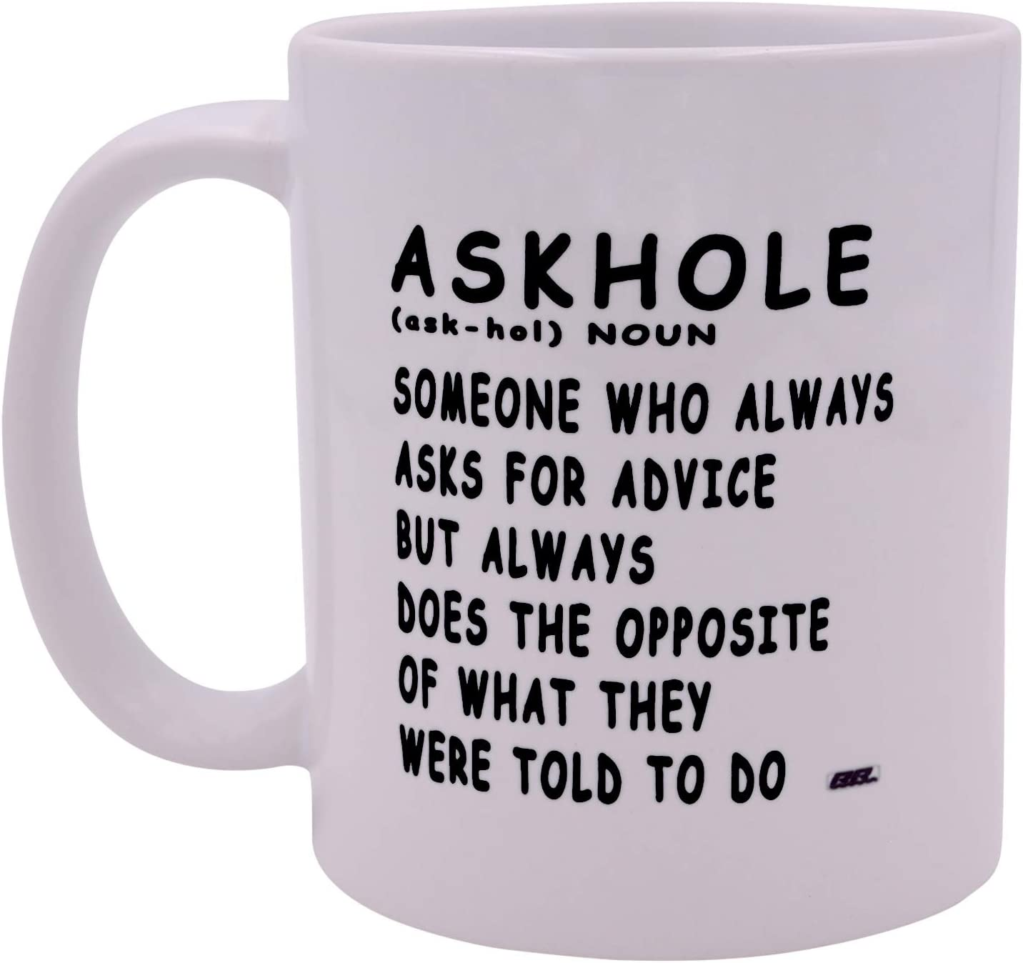 Sarcastic Funny Coffee Mug Askhole Novelty Cup Great Gift Idea For Employee Boss Coworker