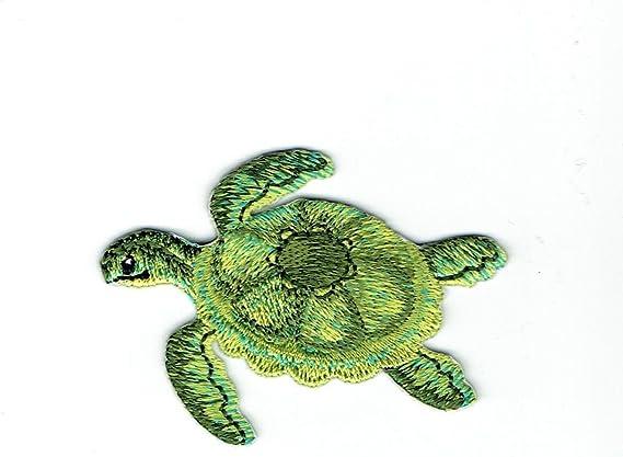 "3X1/"" Turtle IRON ON PATCH Sew On applique patch cute cartoon honu tortoise ocean"