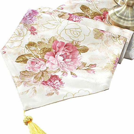 Amazon.com: Love zhuo qi Table Runners for Parties Table ...