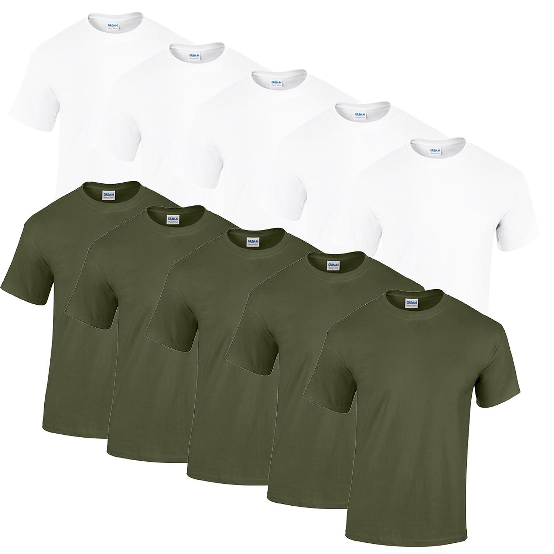 Gildan 10 T Shirts Heavy Heavy Heavy Cotton M L XL XXL Diverse Farben auswählbar B01MYD89VC T-Shirts Überlegene Materialauswahl 7cab72