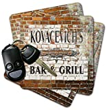 KOVACEVICH'S World Famous Bar & Grill Brick Wall Coasters - Set of 4