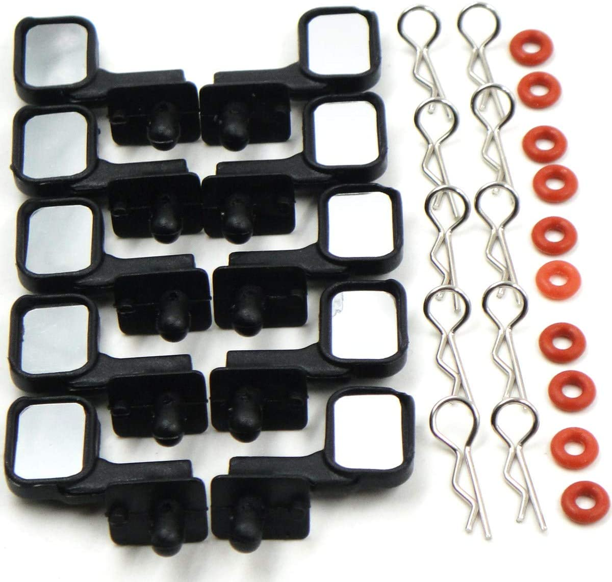 hobbysoul 5 Sets 1//10 Side Rear Mirrors Rearview Mirrors for 1:10 RC Rock Crawler Truck Body Shell Cover Upgrade