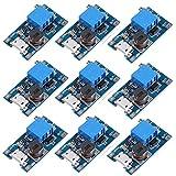 Icstation MT3608 Mico USB DC Voltage Regulator Step Up Boost Converter Power Supply Module 2V-24V to 5V-28V 2A (Pack of 10)