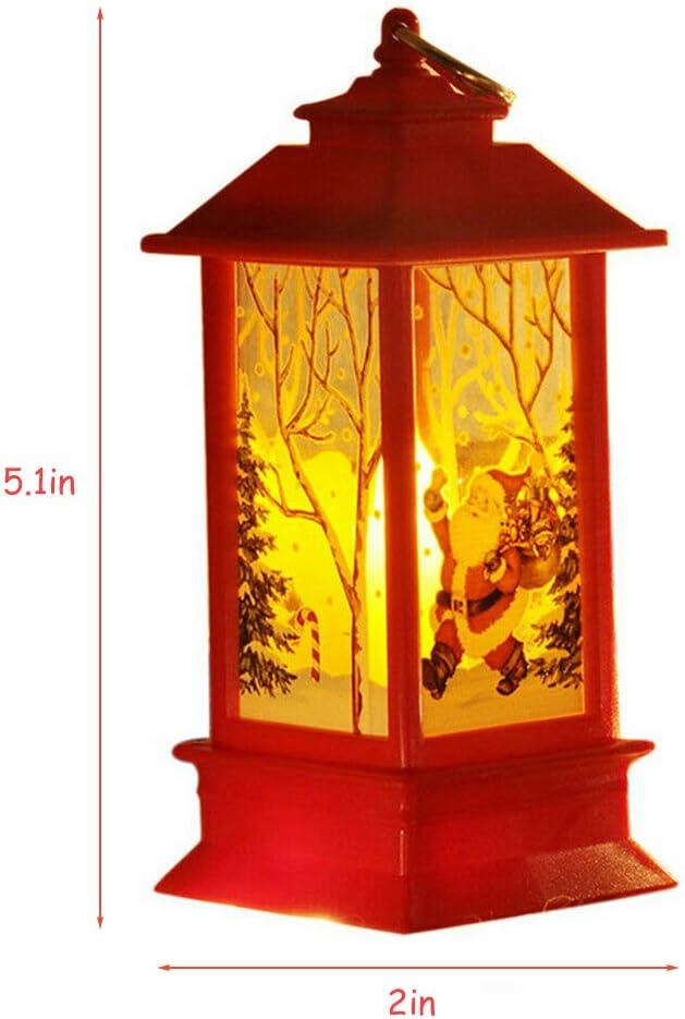 Sahalo Weihnachtskerze mit LED Weihnachten Nachtlichter Kerzenlicht Kerzenhalter Romantische Dekoration