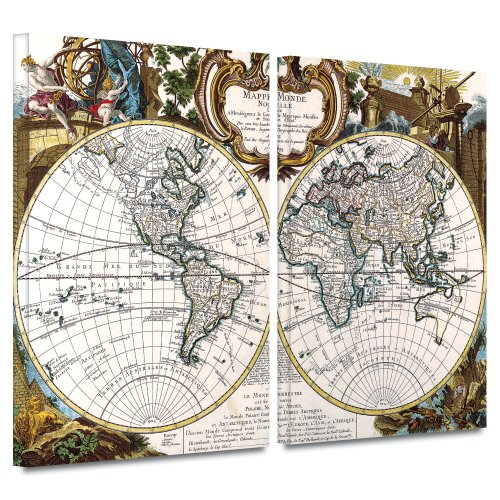 (Art Wall George Louis Le Rouge 'Double Hemisphere' Gallery-Wrapped Canvas Artwork, 32 by 48-Inch)