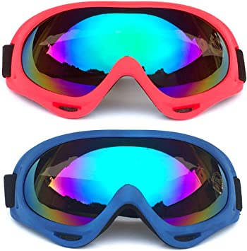 Peicees 24 Pack Ski Goggles Winter Snowboard Adjustable UV 400 Protective Motorcycle Snow Goggles Outdoor Sports Tactical Glasses Dustproof Military