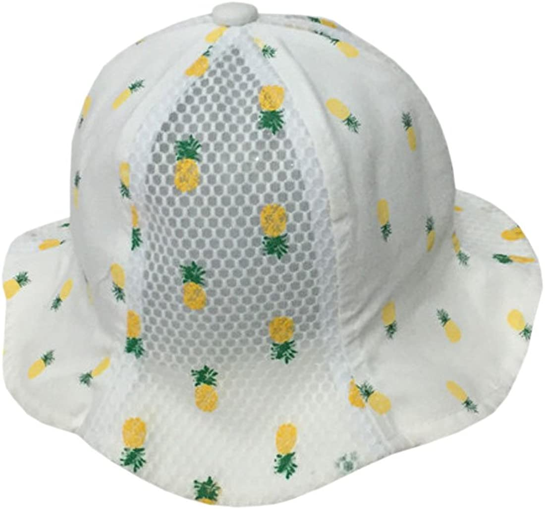 Baby Boys Girls Mesh Pineapple Patchwork Newborn Bucket Hat TM XueXian