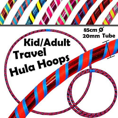 KIDS Hula Hoops (Ultra-Grip/Glitter Deco) - 3 COLOUR Weighted Childrens and...