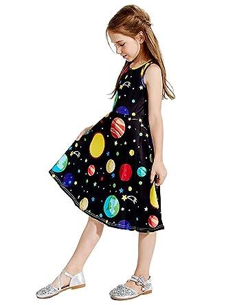 e478619ba5 Mommy and Me Sun Stars Print Sleeveless Dresses Family Matching Casual  Bohemian Maxi Girls Party Midi