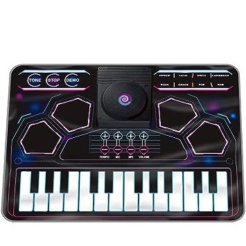 DUWEN Teclado para niños Pedal de batería Manta electrónica para piano Principiante Niño Niña Juguete